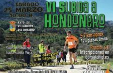 VI.- SUBIDA A HONDONERO DE VILLANUEVA DEL ROSARIO